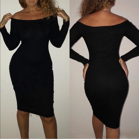 StyleMood Dresses & Skirts - Brand New 🔥Black Off Shoulder Bodycon Dress 👗